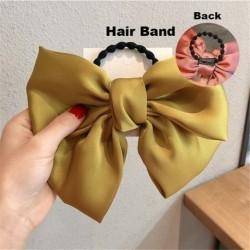2. típus sárga - ÚJ haj íj lányok bársony szatén hajtű hajtű szál hajszálak divat