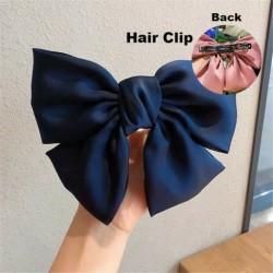 1. típus sötétkék - ÚJ haj íj lányok bársony szatén hajtű hajtű szál hajszálak divat