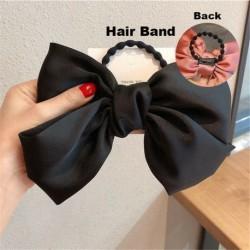 Type2 Fekete - ÚJ haj íj lányok bársony szatén hajtű hajtű szál hajszálak divat