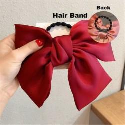 Type2 Red - ÚJ haj íj lányok bársony szatén hajtű hajtű szál hajszálak divat