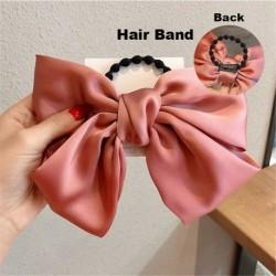 Type2 Pink - ÚJ haj íj lányok bársony szatén hajtű hajtű szál hajszálak divat