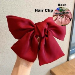 Type1 Red - ÚJ haj íj lányok bársony szatén hajtű hajtű szál hajszálak divat