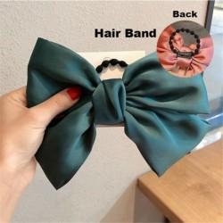 Type2 Green - ÚJ haj íj lányok bársony szatén hajtű hajtű szál hajszálak divat