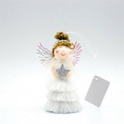 Style-4 B (1db HxS: 10,5x7cm) - Karácsonyi angyal baba játék függő medál fesztivál dísz karácsonyi fa dekoráció