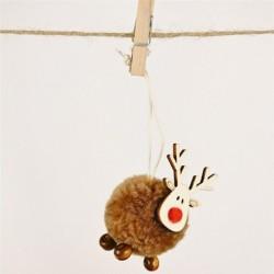 Style-13 barna (1db HxS: 14x5cm ... - Karácsonyi angyal baba játék függő medál fesztivál dísz karácsonyi fa dekoráció