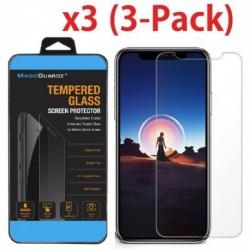 IPhone XR (3 csomag) - 3X Premuim Temper Glass üvegfólia védőburkolat iPhone XS MAX XR 8 7 6S készülékhez