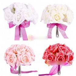 1db gyönyörű esküvői csokor rózsa virág dekoráció