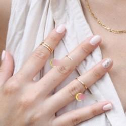 4db Arany Ezüst színű gyűrű ajándék ékszer szett