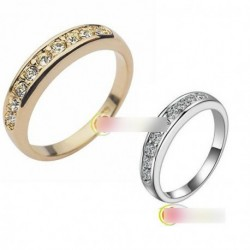 1db Rózsa Kristály stílusú Menyasszonyi gyűrű