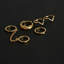 6db / készlet arany - Vintage női gyűrűk készlet halom sima felett csülök Midi ujjhegy gyűrű ékszerek