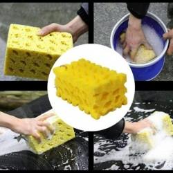 Sárga - Autómosó Extra nagy autómosó szivacs Korall szivacs tisztító szivacs puha méhsejt alakú autótisztító