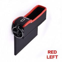 Két oldal piros - Autósülési rés tároló doboz pohár italtartó szervező Auto Gap Pocket rendezése a telefonkártya