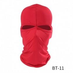 Piros - Balaclava 2 lyukú arcmaszk motorkerékpár lélegző kerékpáros Hawkeye szabadtéri lovagló motorkerékpár maszk