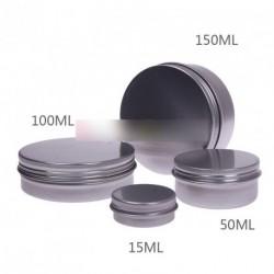 1db 50ML kerek alumínium szájfény krém tároló