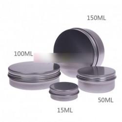 10db 50ML kerek alumínium szájfény krém tároló