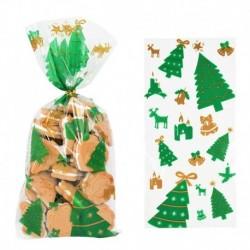 Stílus5 - 50db Mikulás karácsonyfa jávorszarvas PVC táskák átlátszó átlátszó ajándék táska karácsonyi ajándék