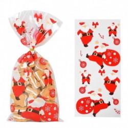 Stílus6 - 50db Mikulás karácsonyfa jávorszarvas PVC táskák átlátszó átlátszó ajándék táska karácsonyi ajándék