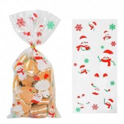 Stílus7 - 50db Mikulás karácsonyfa jávorszarvas PVC táskák átlátszó átlátszó ajándék táska karácsonyi ajándék