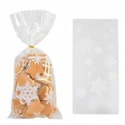 Stílus8 - 50db Mikulás karácsonyfa jávorszarvas PVC táskák átlátszó átlátszó ajándék táska karácsonyi ajándék