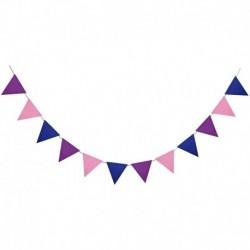 F01 - Többszínű nem szőtt zászlók Bunting Banner Esküvő / Valentin-nap / születésnapi parti Zászlók Hang Garland