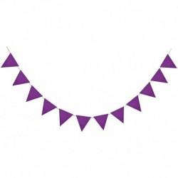 F07 - Többszínű nem szőtt zászlók Bunting Banner Esküvő / Valentin-nap / születésnapi parti Zászlók Hang Garland