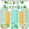 49db készlet - Dinoszaurusz téma party Dinoszaurusz ballon eldobható evőeszköz készlet gyerek fiú születésnapi party