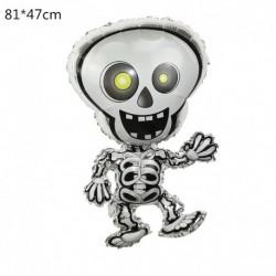 C - Halloween tök szellem lufi Halloween díszek Pókfólia léggömbök felfújható játékok Denevérgömbök Halloween