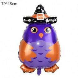 F - Halloween tök szellem lufi Halloween díszek Pókfólia léggömbök felfújható játékok Denevérgömbök Halloween