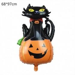 L - Halloween tök szellem lufi Halloween díszek Pókfólia léggömbök felfújható játékok Denevérgömbök Halloween