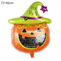 N - Halloween tök szellem lufi Halloween díszek Pókfólia léggömbök felfújható játékok Denevérgömbök Halloween