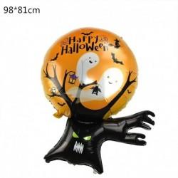 Q - Halloween tök szellem lufi Halloween díszek Pókfólia léggömbök felfújható játékok Denevérgömbök Halloween