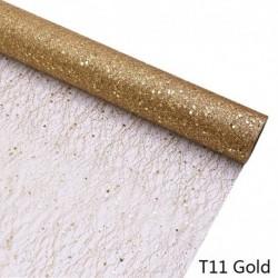 Arany - 50cm * 5Y arany drótszövet tüll tekercs orsó kézműves esküvői party dekoráció csokor pakolás organza puszta