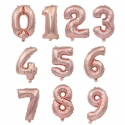 rózsaarany - 32 hüvelykes rózsaarany ezüst alumíniumfólia száma lufi számjegyű hélium lufi születésnapi parti