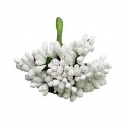 fehér - 12db / tétel Kézműves művirágok porzó cukor esküvői party dekoráció barkács koszorú ajándék doboz