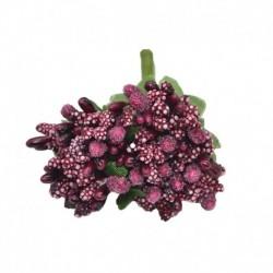 burgund - 12db / tétel Kézműves művirágok porzó cukor esküvői party dekoráció barkács koszorú ajándék doboz