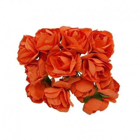 narancs - 72PCS 3 cm-es fejű többszínű műpapír virág, amelyet dekoratív ajándék esküvői otthoni party barkácsolási