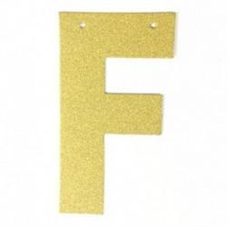 E - 1db / tétel 13 cm-es személyre szabott barkács arany csillogó papír levél szalagcímer függő zászlók esküvői