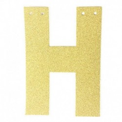 G - 1db / tétel 13 cm-es személyre szabott barkács arany csillogó papír levél szalagcímer függő zászlók esküvői