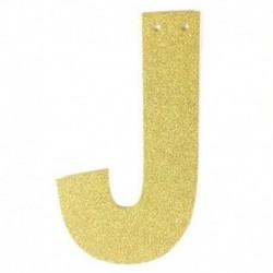 én - 1db / tétel 13 cm-es személyre szabott barkács arany csillogó papír levél szalagcímer függő zászlók esküvői