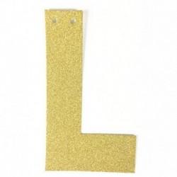 K - 1db / tétel 13 cm-es személyre szabott barkács arany csillogó papír levél szalagcímer függő zászlók esküvői