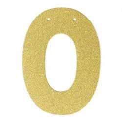 N - 1db / tétel 13 cm-es személyre szabott barkács arany csillogó papír levél szalagcímer függő zászlók esküvői