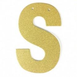 R - 1db / tétel 13 cm-es személyre szabott barkács arany csillogó papír levél szalagcímer függő zászlók esküvői