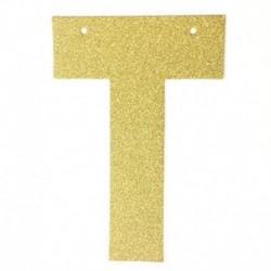 S - 1db / tétel 13 cm-es személyre szabott barkács arany csillogó papír levél szalagcímer függő zászlók esküvői