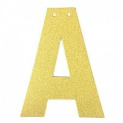 T - 1db / tétel 13 cm-es személyre szabott barkács arany csillogó papír levél szalagcímer függő zászlók esküvői