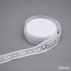 20mm - 10 yardos fehér csipke szövet díszítő csipke szalag hímzett csipke DIY varráshoz kézműves kézműves ruházat
