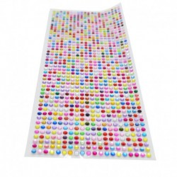 sokszínű - 900db / készlet 4 mm-es barkács öntapadó matrica telefon PC Art Bling kristály akril strasszos scrapbooking
