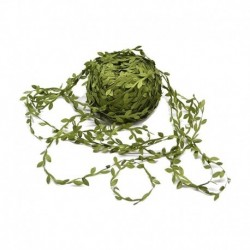 3 - 10M selyem arany zöld műlevelek szőlő esküvői dekorációhoz DIY koszorú ajándék scrapbooking kézműves hamis