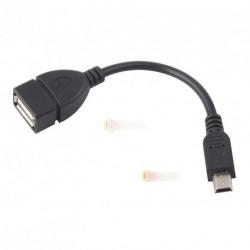 Mini USB B M - USB 2.0 A F Host OTG Adapter kábel