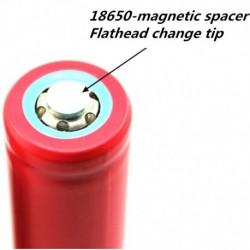 18650 tömítés lapos vége erős mágnesdarabbá válik kis mágneses elemlámpa elem távtartó