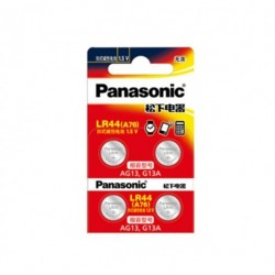 4db PANASONIC LR44 A76 AG13 0 Hg SR1154 357 LR 44 1,5 V-os cellás akkumulátorok Számológéphez 0 Hg